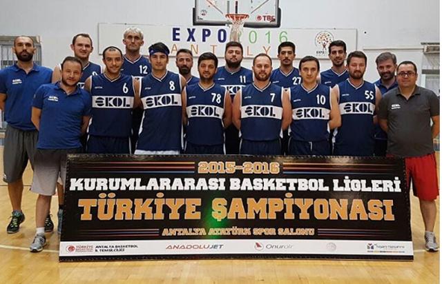 Kurumlar Arası Basketbol Şampiyonu Ekol Lojistik