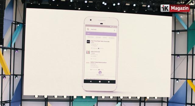 Google Aramalarına İş Bulma Özelliği