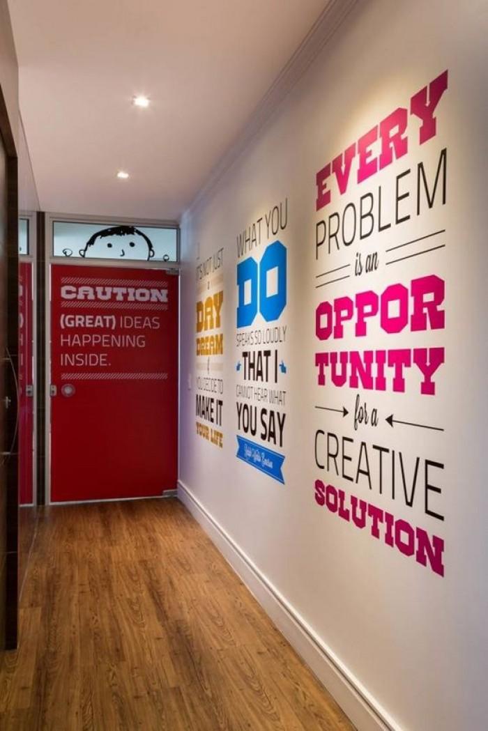 İlgi Çekici Ofis Duvar Sticker Yazıları